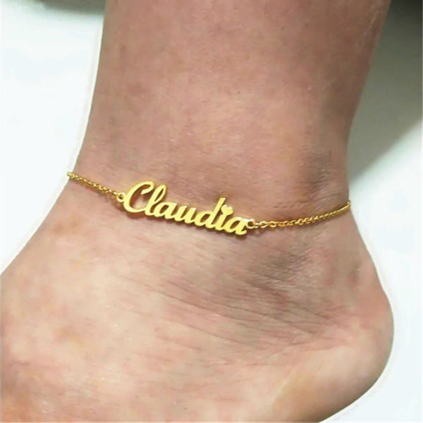 Custom Name Anklet Chain - Accessories for shoes