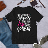 Good Shoes Good Places Tee Style1 (Font White)