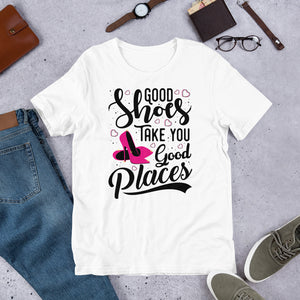 Good Shoes Good Places Tee Style1 (Font Black) - Accessories for shoes