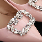 Elegant Square Decorative Shoe Buckle - Accessories for shoes