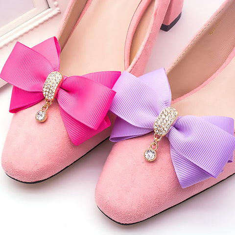 High Quality Fabric Rhinestone Shoe Decoration Bow - Accessories for shoes