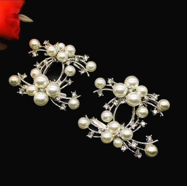 High-grade Shinning Artificial Pearl Diamond Shoe Buckle - Accessories for shoes