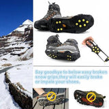 One-pair Over Shoe Studded Snow-Ice Cleats - Accessories for shoes