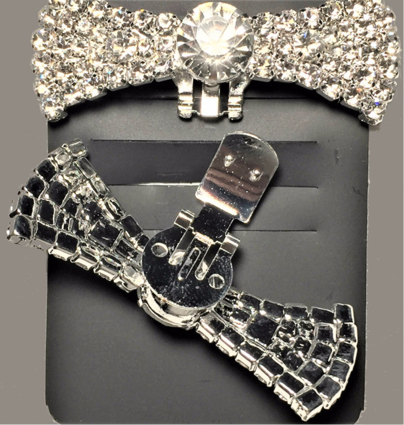 Crystal Bow Rhinestone Shoe Clip - Accessories for shoes