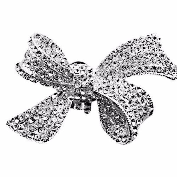 Flower Bow A Grade Rhinestones Shoe Clip - Accessories for shoes