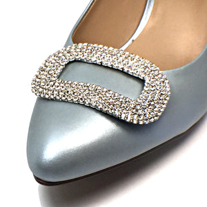 Gorgeous Rectangular Rhinestone Shoe Clip - Accessories for shoes