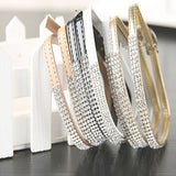 Leather Rhinestone Crystal Shoe Band - Accessories for shoes