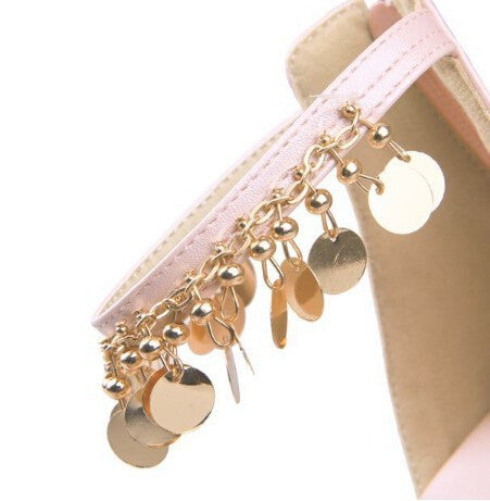 One-pcs Golden Plated Silicone Ankle Chain - Accessories for shoes