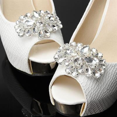 Crystal Horse Eye Rhinestone Shoe Clip - Accessories for shoes