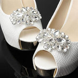 One-pair Crystal Horse Eye Rhinestone Shoe Clip - Accessories for shoes