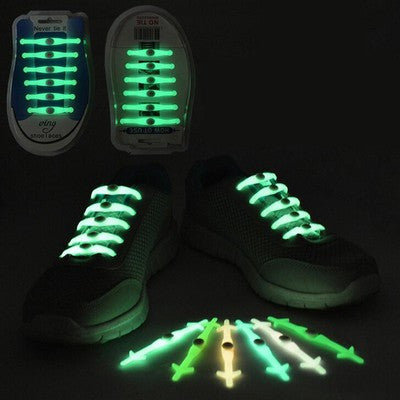 12pcs/set Light Elastic Silicone Shoelaces - Accessories for shoes