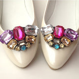 Elegant Multi-Color Crystal Rhinestone Shoes Clip