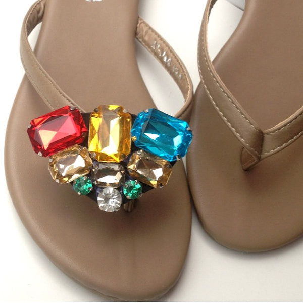 Elegant Multi-Color Crystal Rhinestone Shoes Clip - Accessories for shoes