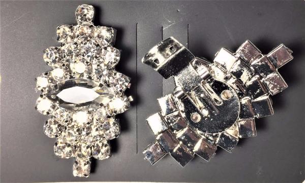 One-pair Navette Break Rhinestone Shoe Clip - Accessories for shoes