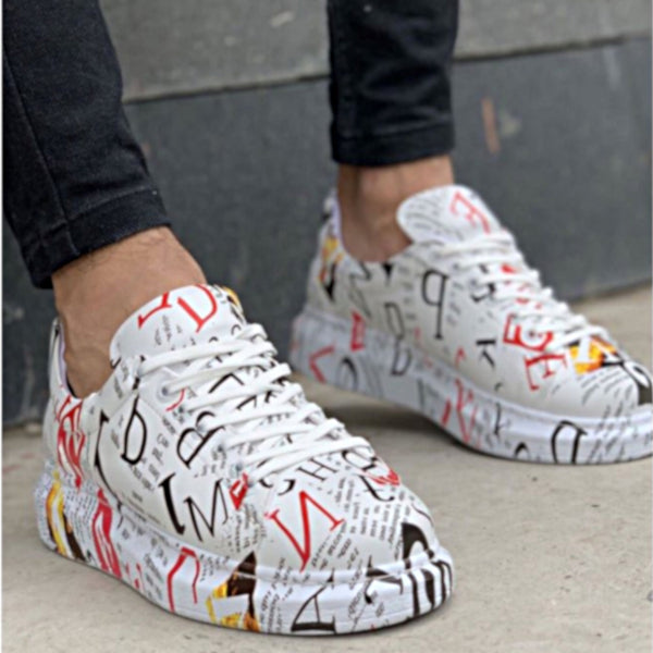 Custom Newsprint Sneakers - Unisex - Accessories for shoes