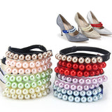 Beautiful Artificial Pearl Decoration Band Strap - Accessories for shoes