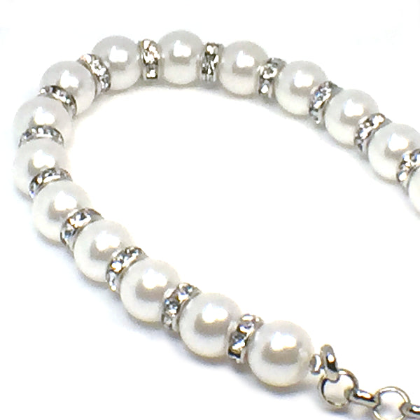 Artificial Pearl Rhinestone Beading Chain Shoe Decoration - Accessories for shoes
