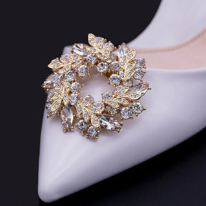 Rhinestone Ring Shaped Shoe Clip - Accessories for shoes