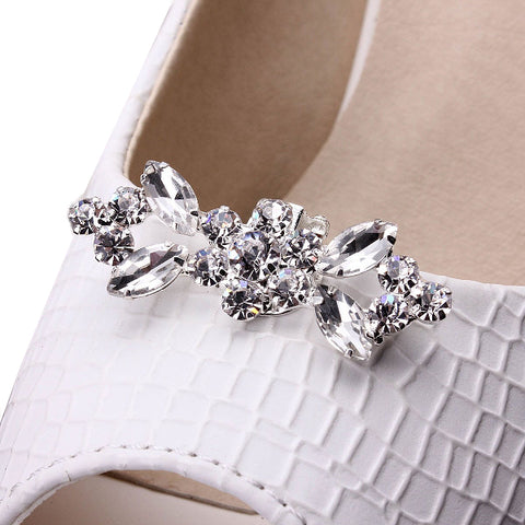 One-pair Shiny Tone Crystal Shoe Clip - Accessories for shoes