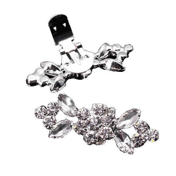 Shiny Tone Crystal Shoe Clip - Accessories for shoes