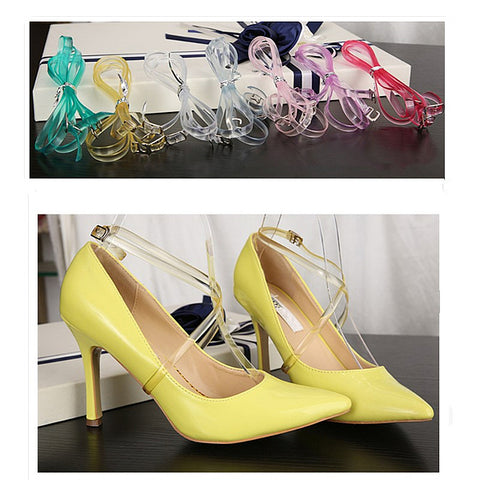 High Quality 58cm Invisible Elastic Transparent Ankle Shoes Band Strap - Accessories for shoes
