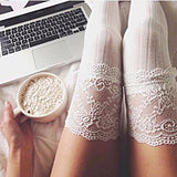 Thigh High Over The Knee Warm Lace Socks
