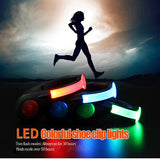 Rechargeable Colorful LED Flashing Light Shoe Clip