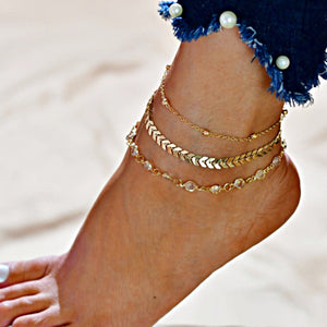 Vintage Handmade Ankle Bracelet - Accessories for shoes