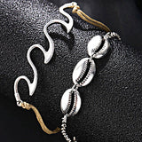 Beach Wave Shell Anklet Bracelet - Accessories for shoes