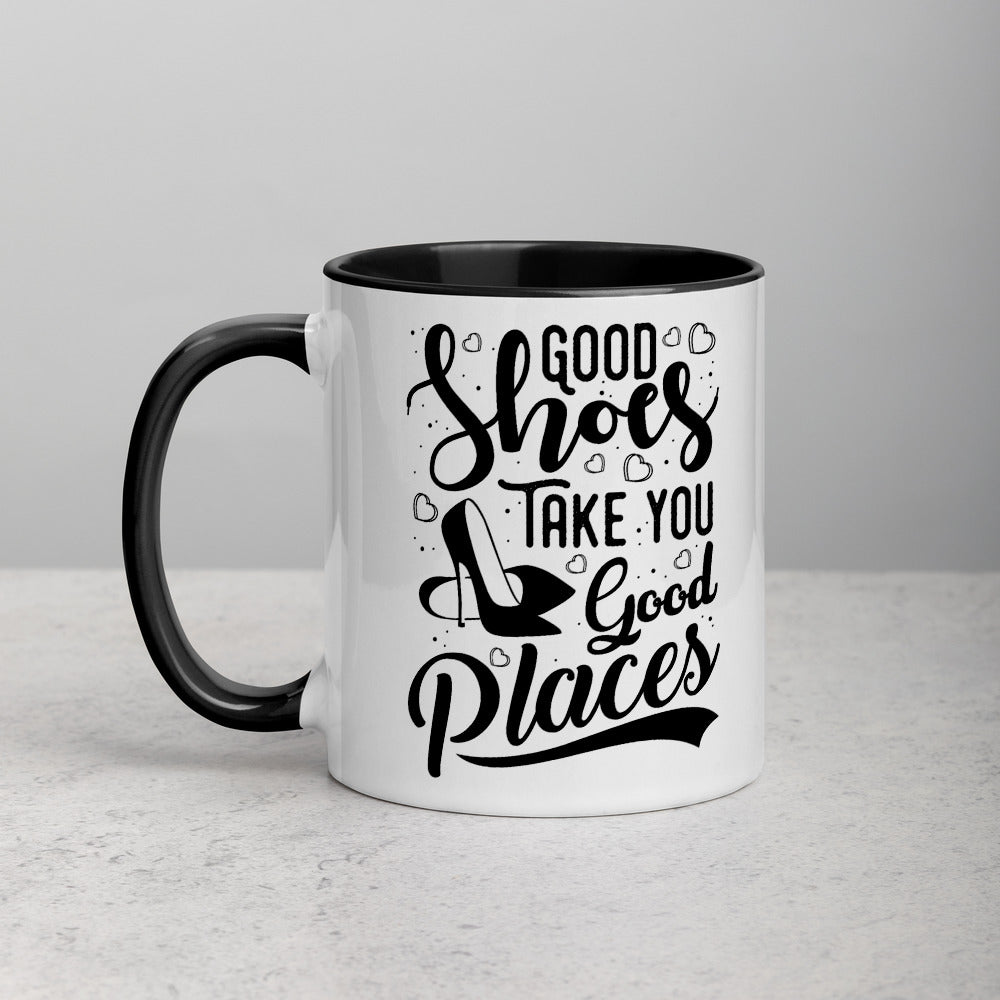 Good Shoes Good Places Custom Print Mug - Color - Accessories for shoes