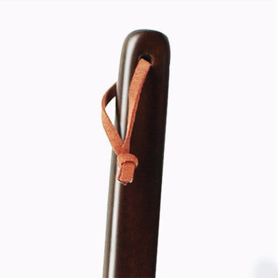 One-pcs Mahogany Craft Wenge Wooden Shoe Horn - Accessories for shoes