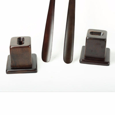 One-pcs Mahogany Craft Wedge Wooden Shoe Horn - Accessories for shoes
