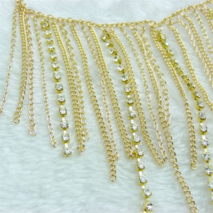 Metal Tassel Diamond Chain - Accessories for shoes