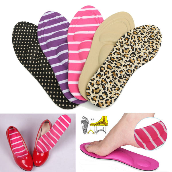 Women Feet Care Massage High Heels Sponge 3D Shoe Insoles Cushions Pads - Accessories for shoes