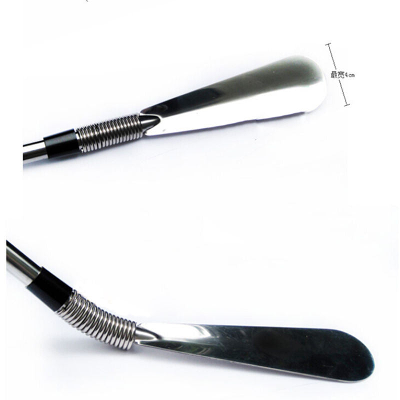 One-pcs 58cm Long Handle Metal Silver Color Shoe Horn - Accessories for shoes