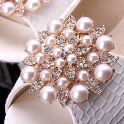 Elegant Pearl  Rhinestone Shoe Clip - Accessories for shoes