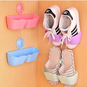 One-pair Suction Cup Wall Mounted Shoe Rack - Accessories for shoes