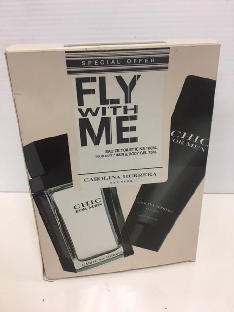 Fly With Me, Carolina Herrera Gift Set for Men NIB - Fragrance