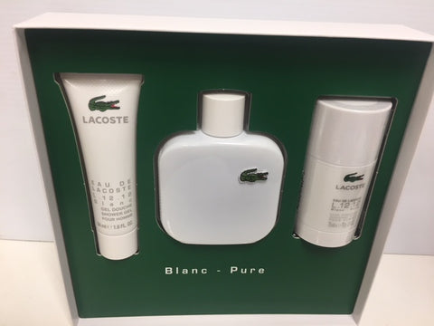 Lacoste L.12.12 Blanc Pure - Men 3 PCS SET - Fragrance