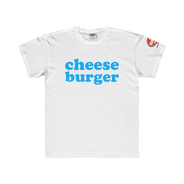 Cheese Burger T-shirt, Youth Sizes, White, The Burger Garage