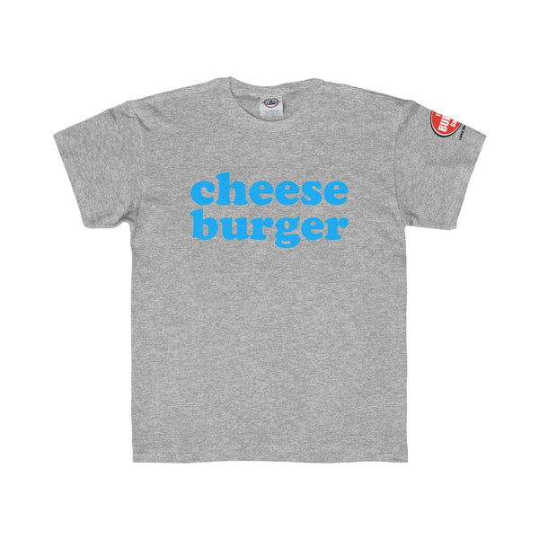 Cheese Burger T-shirt, Youth Sizes, Grey, The Burger Garage