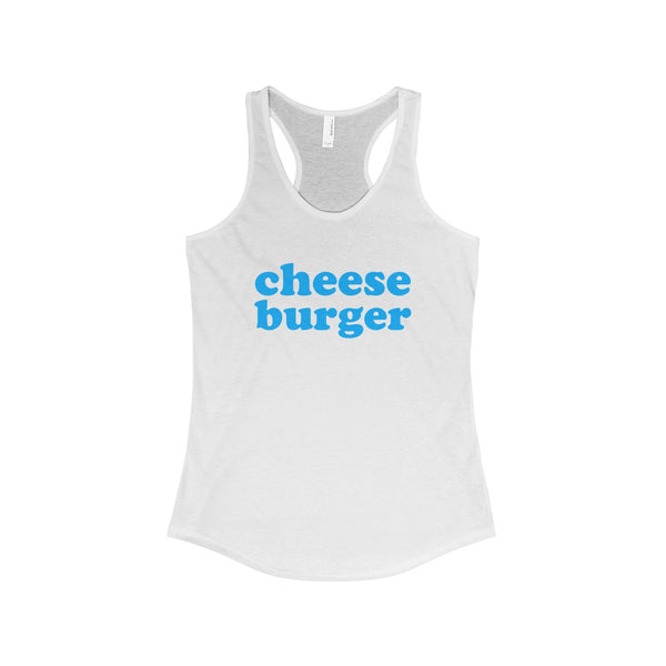Cheese Burger Tank Top with Logo, Women, White or Grey