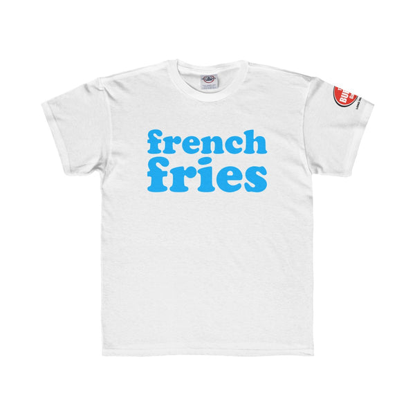 French Fries T-shirt, Youth Sizes, White