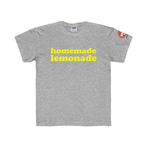 Homemade Lemonade T-shirt, Youth Sizes, Grey, The Burger Garage