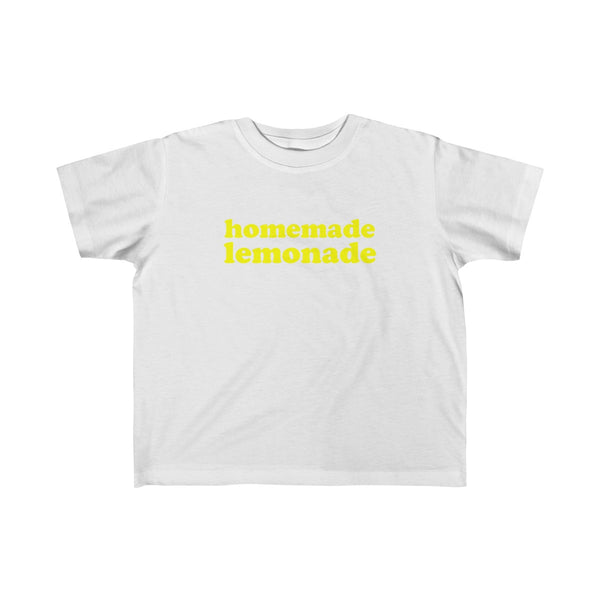 Homemade Lemonade Tshirt for Toddler Kids, white