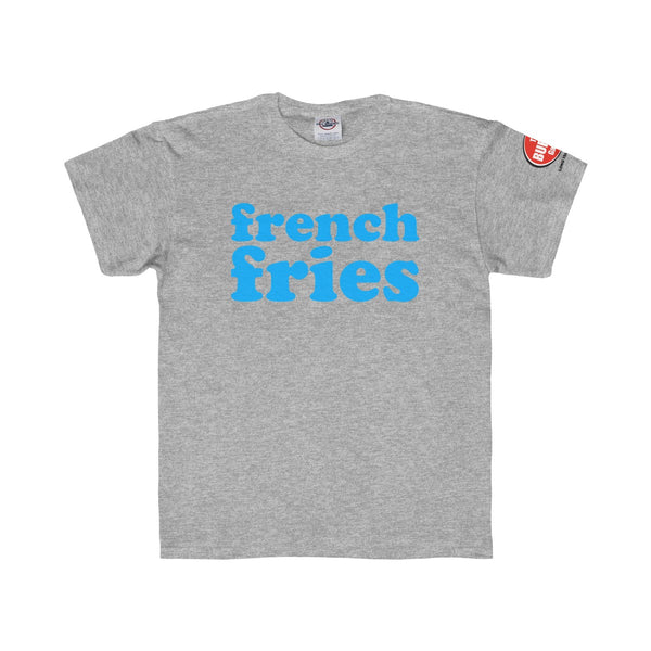 French Fries T-shirt, Youth Sizes, Grey, The Burger Garage