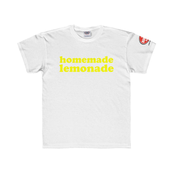 Homemade Lemonade T-shirt, Youth Sizes, White, The Burger Garage