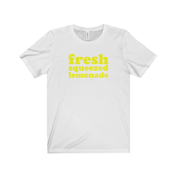 Fresh Squeezed Lemonade Short Sleeve Men's T-Shirt, White