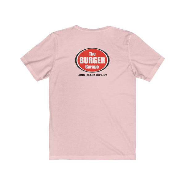 Cheese Burger Short Sleeve Men's T-Shirt, White, Pink or Blue