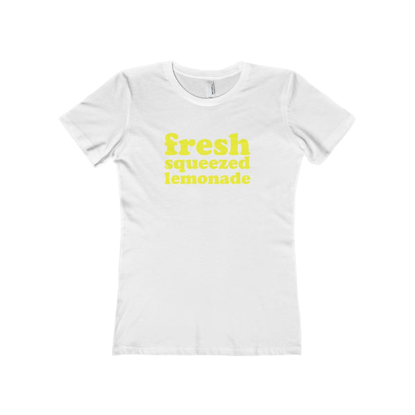 Fresh Squeezed Lemonade Tshirt with Logo, Women, White